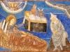 Jesusbarnet ligger på krubban - altaret. Den sovande Josef har judisk hatt. Foto Stig Alenäs
