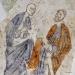 Johannes med sitt attribut: Giftbägaren. Paulus håller det svärd han halshöggs med!!