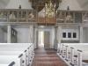 Orgelläktaren med bilder av apostlar