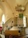 Predikstol med alabasterfigurer från 1500-talet