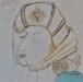 Detalj i Kristofferlegenden. En kvinna sitter vid kvarnen och ska vägleda Kristoffer  med en lykta