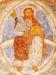 Den himmelska Kristus på regnbågen. Han välsignar på latinskt vis. Foto Stig Alenäs