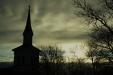 Septemberkväll framför Listerby kyrka