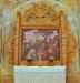 Björn Ahlgrenssons altartavla där familj och vänner stått modell