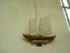 Modell av den kyrkbåt som användes av skärgårdsbefolkningen vid färd till kyrkan(fr.1989)
