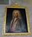 På väggen under läktaren ett porträtt av Aron Westén kh i Ramsberg 1779-1801