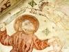Abraham på väg att offra Isak men hindras av en ängel.