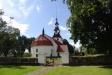 Kyrkan från öster i aug. 2012. Eget foto.