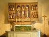 Det medeltida altarskåpet är kyrkan främsta prydnad