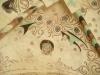 Om glasmålningen  finns inget nämnt i kyrkans häfte.(3:e upplagan)