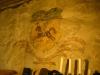 Målning på väggen i sakristian