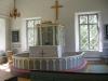 Predikstolen ovanför altaret