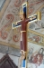 Kopia av gammalt krucifix i bysantinsk stil: Kristus som konung