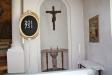 Predikstolen tillhör originalinredningen och är tillverkad av byggmästare Nyström.
