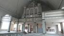 Interiör med orgelläktare