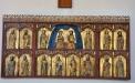 Senmedeltida altarskåp med apostlar