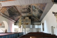 En av många takmålningar i Kristbergs kyrka