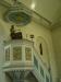 Altaruppsatsen från 1700-talet har satts upp vid dopaltaret