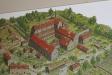 Modell över klostret när det var som störst.