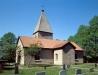 Öglunda kyrka i början av 90-talet. Foto: Åke Johansson.