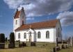 Trävattna kyrka i slutet av 80-talet. Foto: Åke Johansson.