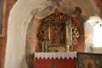 Altartavlan målad på duk