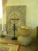 Dopfunt av sandsten med uttömningshål c:a 1200-tal