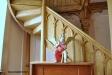 Burlesk ängel på en gammal orgel