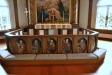 Kyrkans äldsta bevarade föremål är en altartavla från 1665
