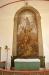Altartavlan består av en muralmålning från 1899 av Anders Gustaf Ljungström