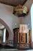 Predikstolen är från 1600-talet och inköpt 1725 från Habo kyrka.