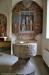 Det fina altarskåpets mittdel och predella