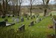 Kyrkogård med utsikt.