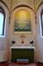 Altartavlan är målad 1996 av Jan-Owe Stappe