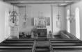 Interiör i Lagmansered kyrka. Vykort
