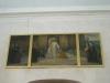 Den gamla altartavlan sitter nu på sydväggen