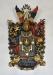 Begravningsvapen för familjen Lagerhielm. Har hört till altaruppsatsen ursprungligen.