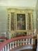 Altartavlan från 1739 står nu (tillfälligt?) vid sidan om altarringen