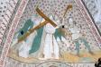 Valvmålning i koret.