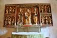 Det vackra nyrestaurerade altarskåpet som anses vara ett inhemskt arbete