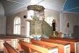 Predikstolen är troligen från 1600-talet.