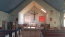 Interiör juni 2019. Extra konst i kyrkan