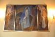 Altaret och gaffelkorset är ritade av Nils Aron Berge
