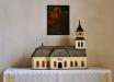 Predikstol från 1795 utförd av Krång Lars Ersson i Bodarna