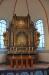 Altaruppsats i barockstil härrör från 1600-talskyrkan