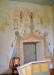 Helgonbilder över sakristiedörren