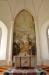 Altartavlan är en al frescomålning av Olle Hjortzberg