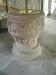 Välbevarad dopfunt i sandsten från 1100-talet