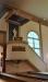 I den nyrenoverade kyrkan har t.o.m ambon fått samma stil som övriga inventarier