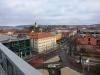 Parkeringshusens takvåning har nu överskridit kyrktornet på Kristine kyrka.